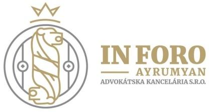 IN FORO – AYRUMYAN advokátska kancelária s.r.o.
